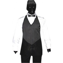 V-Neck Service Apron With Bow Tie & Bandana Cap