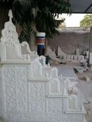 White Carved Marble Masjid Membrane, Size: 48