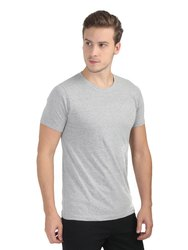 Mens Grey Round Neck Half Sleeve T Shirts