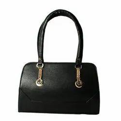 Craft Zen Leather Ladies Plain Black Hand Bag