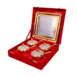 Designer Gifts Silver And Gold Plated Set