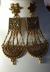 Ladies Fancy Golden Eearring