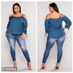 Ladies Blue Jeans With Top