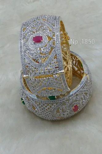 Engagement & Wedding Competent Traditional Goldplated Churi Bangle Set Kada Bracelet Wedding Jewellery 2*4