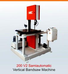 3 Hp Metal Cutting Bandsaw Vertical Band Saw Machine, Capacity: 200 Mm