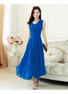 138a146812a Blue Dresses WIGGLEE New Georgette Party Wear Western Dress