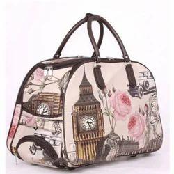 Leather Printed Traveller Bag