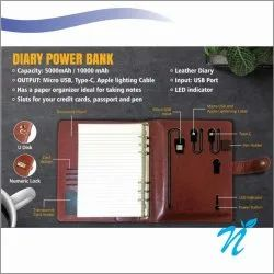 5000 mAh Diary Power Bank With Lock