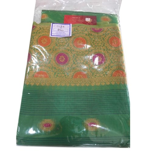 Party Wear Traditional Cotton Saree, 6 m (with blouse piece)