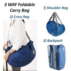 e17af2f7481 3 Way Easy To Carry Folding Bag Best Used For Travel Backpack Trekking  Camping Hiking
