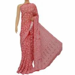 Chikan Sarees, With Blouse Piece