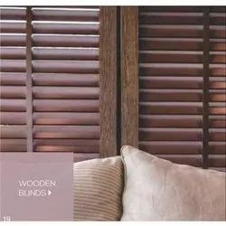 Brown Indoor Wooden Window Blinds