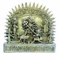 Dhokra Brass Durga Mahishasura Mardini Statue