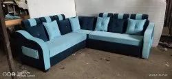 Wooden Cotton Fabric Sofa, For Home, Size: 9x7 Feet