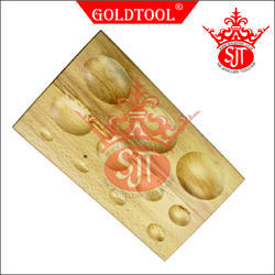 Gold Tool 11 Cavity Oval Dapping Block