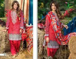 Silk Red Salwar Suit