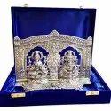 Silver Plated Laxmi Ganesh