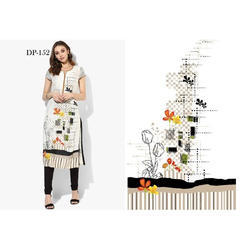 Designer Digital Printed Half Sleeves Kurti