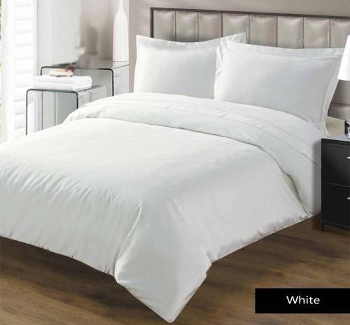 Plain Satin Bed Sheet Set