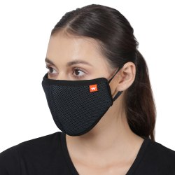 Black Wildcraft Hypa Shield W95 Reusable Outdoor Protection Mask