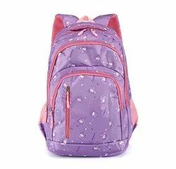 Polyester Pink Girl Backpack School Bags for Kids