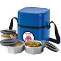 Blue Microwave Lunch Box