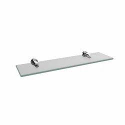 Tube Glass Shelf (Brass)