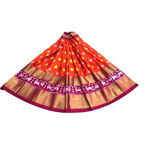 36eb49765f36c8 Wedding Wear Ikkat Pattu Lehenga, Rs 5000 /piece, Venkatesh ...