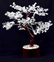 Clear Crystal Tree with Wooden Effect of 300 Beads