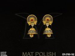 Golden Metal Alloy Antique Earrings