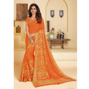 Orange Fancy Saree