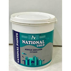 National Gold and 4 Litre Acrylic Emulsion Exterior Paint