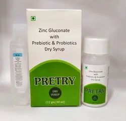 Prebiotic,Probiotic, Zinc Gluconate with Distilled Water