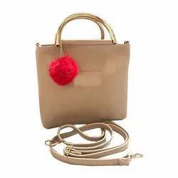 Brown Leather Ladies Designer Side Bag