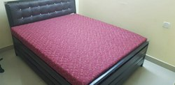 Metal bed Powder Coated Wrought Iron Furniture, Double Bed, Size: 6*5