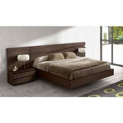 Brown Designer Wooden Double Bed for Home