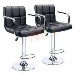 MBTC Cadbury Handrest Kitchen Cafeteria Bar Stool Chair in Black