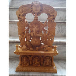 Handicraft Wooden Ganpati Statue