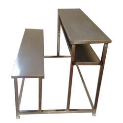 SS 2 Seater Dual Desk Bench