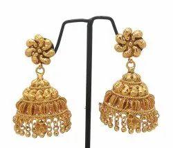 Golden GOLD Jhumka Earring