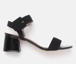 Women Black Solid Heels