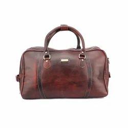 Brown Solid Duffel Bags