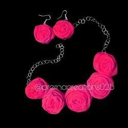 Prerna Creations Floral Fabric Flower Jewelery