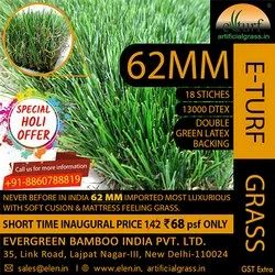 PP 62 MM High Quality Artificial Grass, For Outdoor, Unit Size: Roll