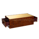 Brown Dual Drawer Coffee Table Md-ct01