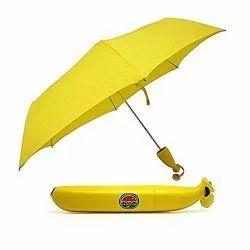 Banana Shape Folding Automatic 3 Fold Open Umbrella For Sun, Rain - BANANA_UMBRELLA