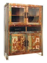 Large Cupboard & Display Unit, Reclaimed Wood Storage Cabinet