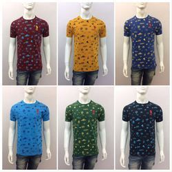 Cotton Printed Mens T Shirt, Size: S to XXL