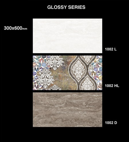 Sakarmarbo 1002HL Glossy Ceramic Digital Wall Tiles, Thickness: 20-25 mm