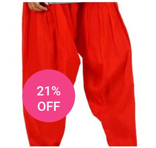 Red Ladies Awa Soft Cotton Patiala Pant 8c7e6fa99
